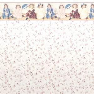 "1:48 Wallpaper ""Antique Dolls"" Stewart Dollhouse Creations"
