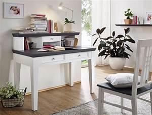 Schreibtisch Mit Aufsatz : graz schreibtisch mit aufsatz wei lackiert ~ Orissabook.com Haus und Dekorationen