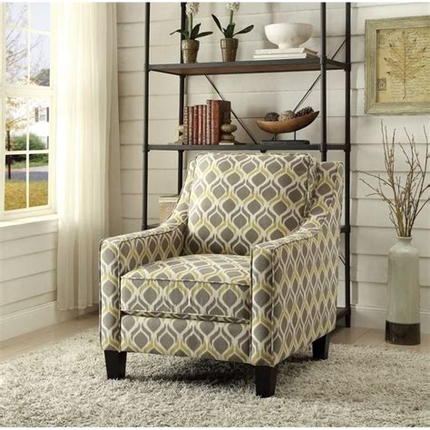 coaster upholstered accent chair in gray and yellow 902428