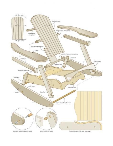 Adirondack Rocking Chair Plans Free  Home Furniture Design