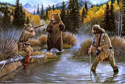 West Western Wild American Background Desktop Bear