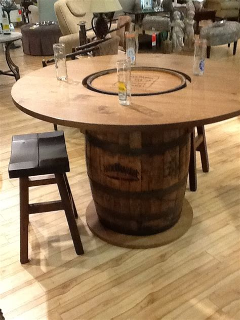 whiskey barrel pub table jack daniels authentic whiskey barrel bar gananoque