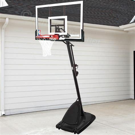 basketball hoop spalding  backboard nba system portable