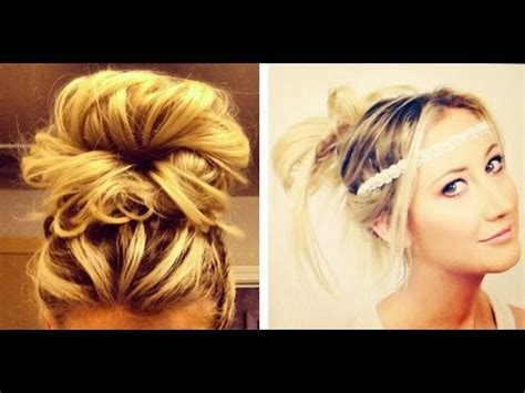 4 easy no heat hair styles how to do messy buns