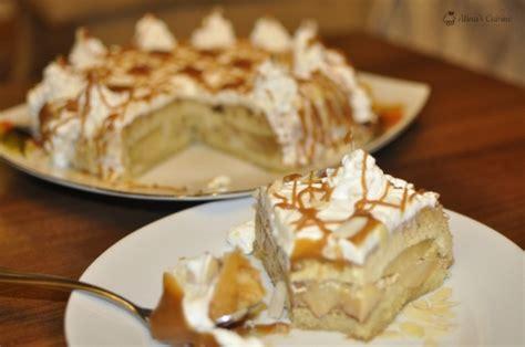 tort de mere  crema de zahar ars