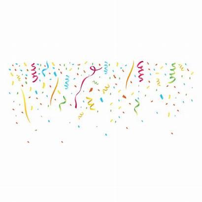 Confetti Confete Background Colorful Transparent Svg Vector