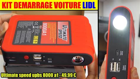 ultimate speed ladegerät kit demarrage voiture lidl ultimate speed upbs 8000 jump starter booster selbststarthilfe mit