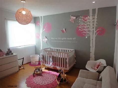 idee deco chambre bebe fille rose  gris idee de deco