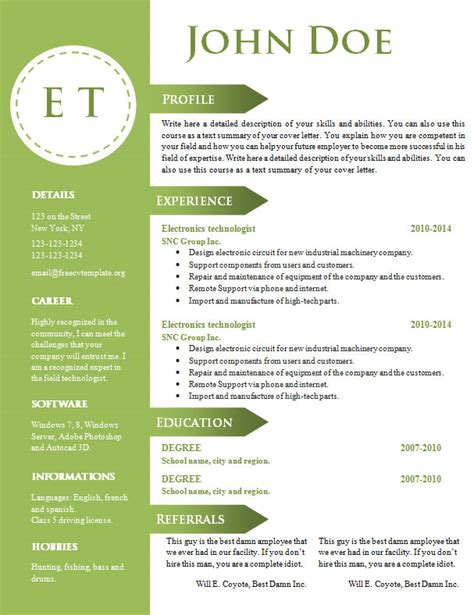 free cv resume template 740 746 free cv template dot org