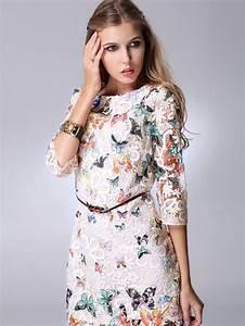 Robe Style Boheme : robe dentelle papillons boho boheme chic ~ Dallasstarsshop.com Idées de Décoration
