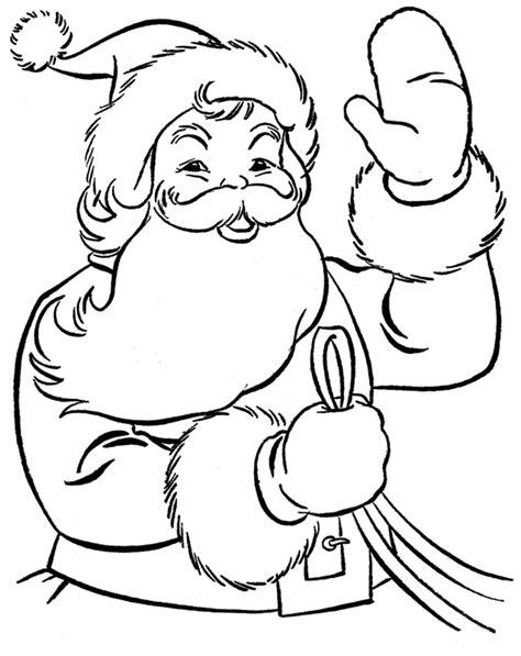 printable santa claus coloring pages  kids