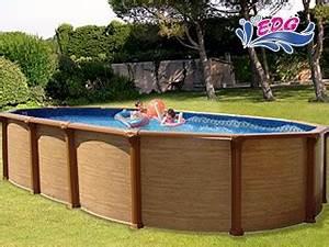 Piscine Acier Aspect Bois : r alisation piscine hors sol acier aspect bois ~ Dailycaller-alerts.com Idées de Décoration
