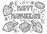December Coloring Hanukkah Pages Printable sketch template