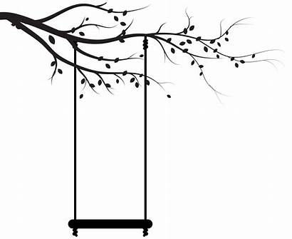 Swing Silhouette Tree Clip Transparent Clipart Tire