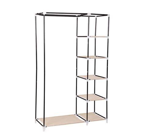 homcom portable closet organizer w shelves