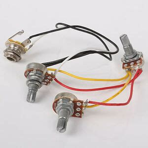 jb jazz bass assembly circuit wiring harness  pots