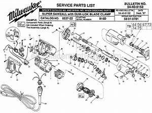 Milwaukee Sawzall Parts Diagram