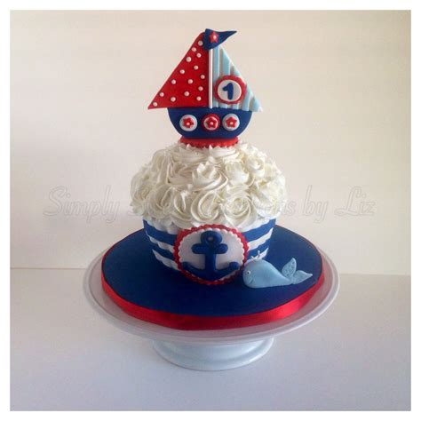 Nautical Smash Cake  Smash Cakes  Pinterest Smash