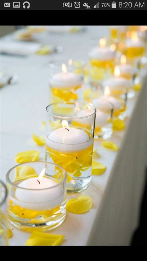 25 best ideas about yellow centerpieces on pinterest