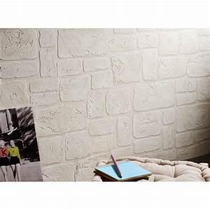 Papier Peint Pierre Blanche : beau papier peint imitation pierre galerie avec papier ~ Dailycaller-alerts.com Idées de Décoration