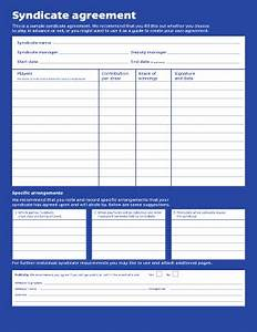 lotto syndicate template fill online printable With lottery syndicate agreement template word