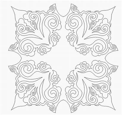 Damask Curl Block