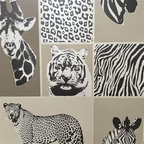 Brown Animal Print Wallpaper - decor novelty animal wallpaper brown fd41918