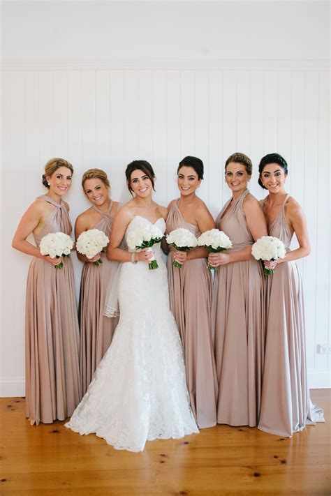 multiway bridesmaid dresses  colour blush pearl www