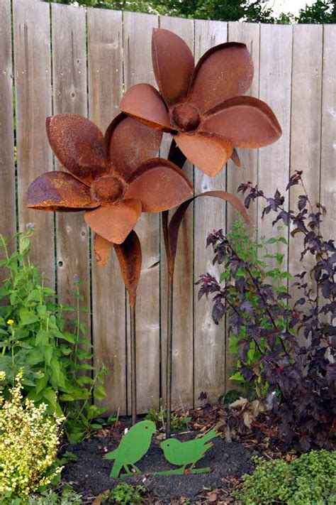 metal garden flowers outdoor decor house decor ideas
