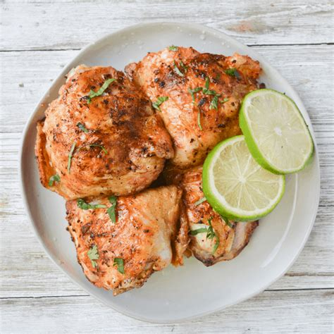 chicken fryer thighs air cilantro lime recipe loud frying