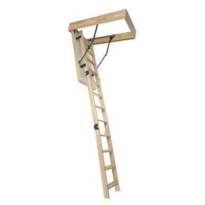 escalier escamotable mac allister en bois avec trappe de 60cm 233 p 76 mm castorama