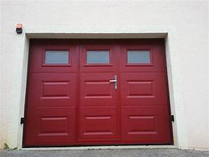 porte sectionnelle avec portillon integre come With porte de garage sectionnelle motorisée avec portillon intégré