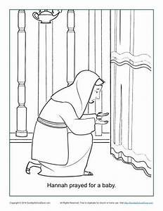 Hannah Prayed for a Baby Coloring Page - Children's Bible
