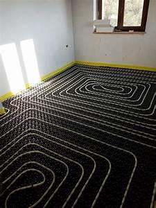 Underfloor Heating Pipes Upstairs