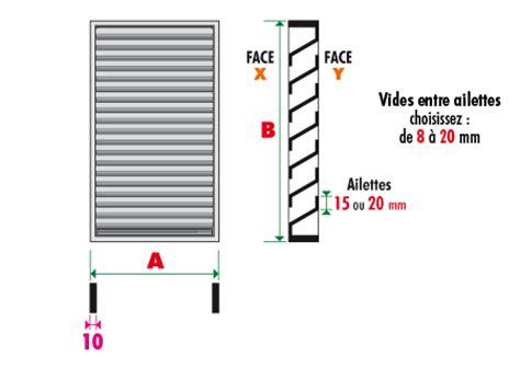 grille de ventilation avec cadre plat