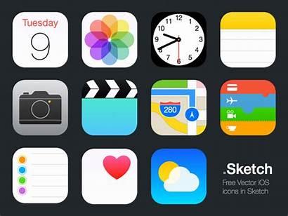 Ios Icons Sketch Vector Icon Apple Ipad
