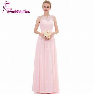 light pink bridesmaid dresses long 2017 chiffon lace high With dress for wedding party guest