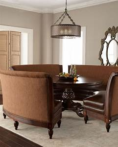 17 best images about dining room banquettes on pinterest With dining room table with sofa seating