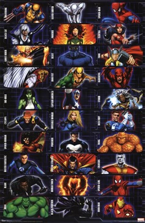 marvel heroes collage wall poster  unknown