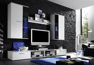 Wand Schwarz Streichen : steinoptik wand 20 erfinderische ideen architektur wohnzimmer zenideen ~ Fotosdekora.club Haus und Dekorationen