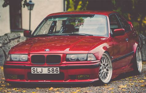 bmw   tuning stance red hd wallpaper