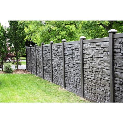 simtek  ft    ft  ecostone dark brown composite fence panel fpxdbr   backyard