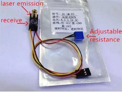 diffuse reflection sensor jg fs 1m laser sensor npn