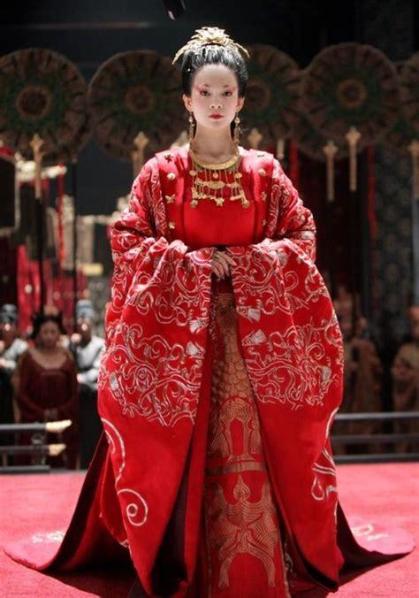 banquet ziyi zhang  empress wan wearing  red
