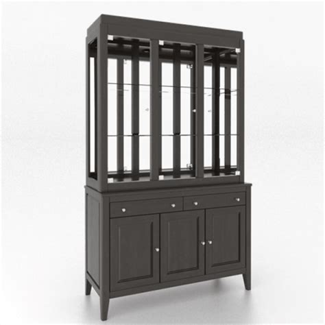 Davy's Grey Buffet & Hutch by Canadel   Kitchen Furniture
