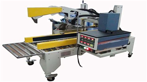 hotmelt glue carton sealing semi automatic case sealer machine dapplication de colle