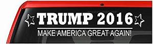 Donald trump 2016 car vinyl decal quotmake america great for Kitchen colors with white cabinets with make america great again bumper sticker