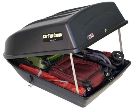 black box auto car top cargo rooftop cargo box 18 cu ft black car top