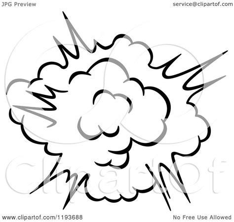 clipart   black  white comic burst explosion  poof