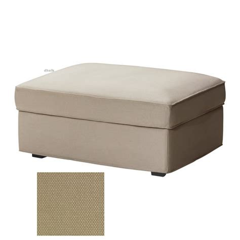 And Ottoman Covers by Ikea Kivik Footstool Slipcover Ottoman Cover Dansbo Beige